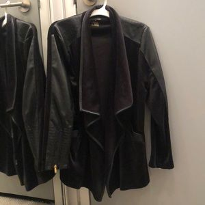 Calvin Klein suede/faux leather jacket